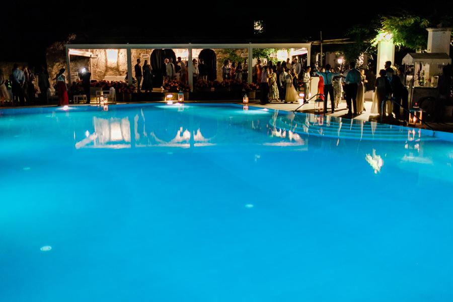 infinity pool dancing party